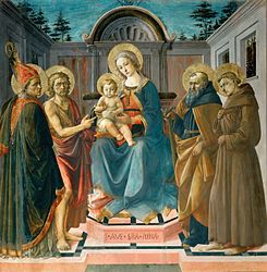 Francesco Pesellino: Madonna and Child with St. Zenobius, St. John the Baptist, St. Anthony and St. Francis of Assisi