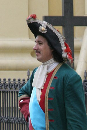 Tricorne - Image: Peter the Great Reenactor