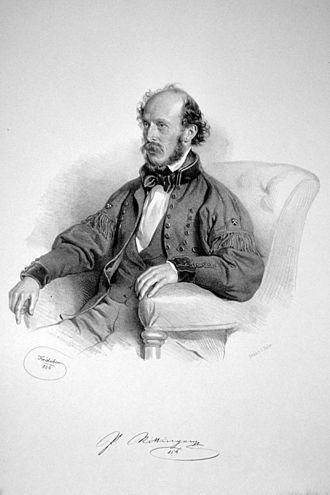 Peter von Rittinger - Peter von Rittinger, Lithograph by Josef Kriehuber, 1856