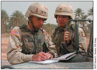 Benjamin Freakley - Image: Petraeus and Freakley in Iraq 2003
