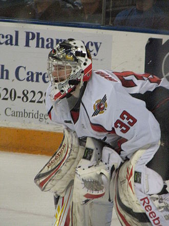 Philipp Grubauer - Grubauer with the Windsor Spitfires.