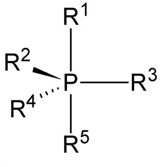 Phosphorane - The structure of a typical phosphorane group.