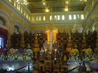Nyanasamvara Suvaddhana - Funerary urn for Somdet Phra Nyanasamvara in 2015.