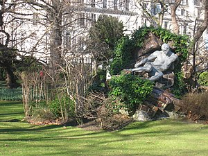 Pierre Roche - L'Effort, by Pierre Roche, Jardin du Luxembourg.