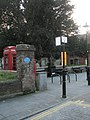 Pillar at the boundary of St Faith'sChurchyard with West Street - geograph.org.uk - 1149242.jpg