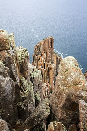 Cape Raoul - Image: Pillars of Cape Raoul 2