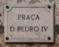 Placa toponímica - Praça D. Pedro IV.png