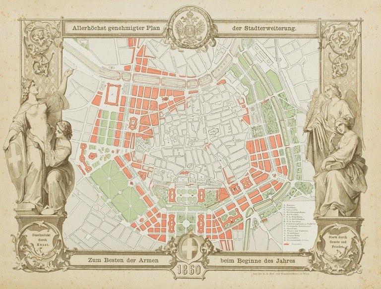 Plan Stadterweiterung Wien 1860