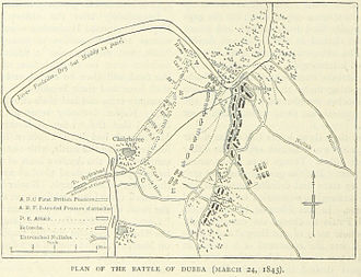 Battle of Hyderabad - A British map of the battle