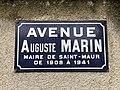 Plaque avenue Auguste Marin St Maur Fossés 2.jpg
