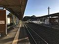 Platform of Toyotsu Station (Tagawa Line) 5.jpg