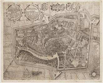 Johan Sems - Map of Leeuwarden made by Sems in 1603