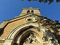 Poleymieux-au-Mont-d'Or - Vue contre-plongée église (sept 2018).jpg