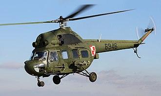 Mil Mi-2 - A Polish Mi-2 on take off
