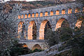Pont du Gard aqueduct at sunset (sat10mar2012-18.24h).jpg