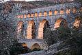 Pont du Gard aqueduct at sunset (sat10mar2012-18.24h).jpg