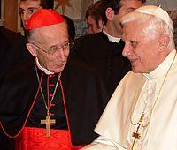 Benedetto XVI con il cardinale Camillo Ruini