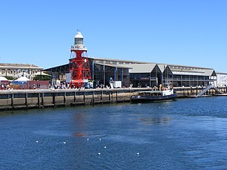 Port Adelaide Lighthouse - Image: Port Adelaide Dock from Port River