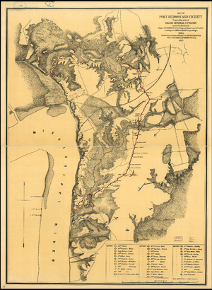 Port Hudson, Louisiana - Image: Port Hudson and Vicinity 1864