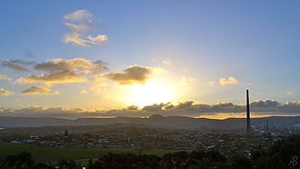 Port Kembla, New South Wales - View of Port Kembla from Hill 60 Park looking North West at sunset