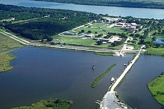 Port Sulphur, Louisiana - Aerial view of Port Sulphur, Louisiana on the Mississippi River