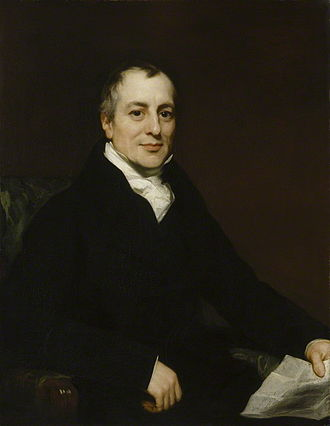 David Ricardo - Portrait of David Ricardo by Thomas Phillips, circa 1821. This painting shows Ricardo, aged 49, just two years before his death.