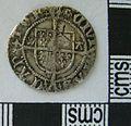 Post Medieval Coin , Halfgroat of Henry VIII (reverse) (FindID 609413).jpg