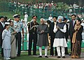 Pratibha Devisingh Patil, the Vice President, Mohammad Hamid Ansari, the Prime Minister, Dr. Manmohan Singh and the Chairperson, UPA, Smt. Sonia Gandhi are at Shantivan, the Samadhi of former Prime Minister.jpg