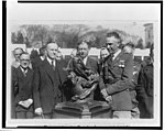 President Coolidge presents Collier trophy LCCN2002712177.jpg