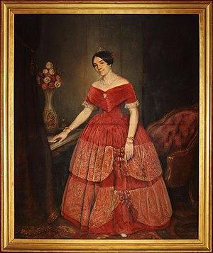 Manuela Rosas - Portrait by Prilidiano Pueyrredo