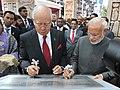 Prime Minister Narendra Modi and Malaysian PM Najib Razak at inauguration of Torana Gate.jpg
