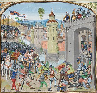 Battle of Caen (1346) - Image: Prise caen 1346