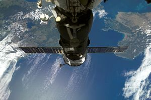 Progress M-62 - Progress M-62 docked with the ISS