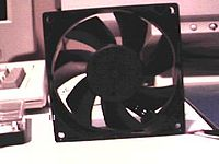 An 80 mm DC axial fan
