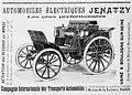 Publicité Automobiles électriques Jenatzy 1899.jpg
