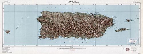 Geography Of Puerto Rico Wikipedia - Altititude map us