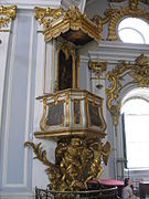 Pulpit in St. Andrew's Church.JPG