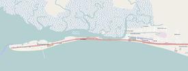 Puntarenas and surrounding area
