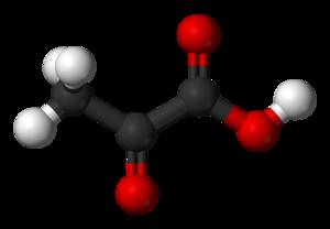 Pyruvic acid - Image: Pyruvic acid 3D balls