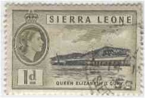Queen of Sierra Leone - Stamp commemorating Queen Elizabeth II Quay, 1956