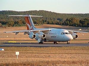 QantasLink (National Jet Systems) British Aerospace BAe 146-200 CBR Gilbert.jpg
