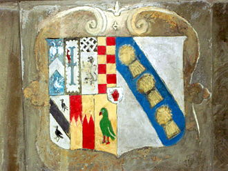 Sir Thomas Wolryche, 1st Baronet - Arms of Margaret Bromley and Francis Wolryche of Dudmaston.