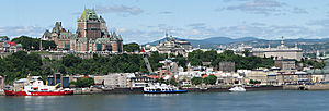 Panorama of Quebec City from Levis.