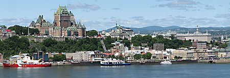 Panorama of Quebec City from Levis