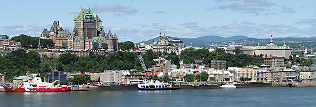 Quebec By Datch78 (Commons File:Quebec city.jpg) [GFDL (http://www.gnu.org/copyleft/fdl.html) or CC BY 3.0  (https://creativecommons.org/licenses/by/3.0)], via Wikimedia Commons