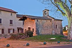 L'église du hameau de la Chapelle.