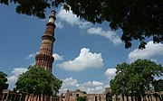 At 72.5 m (238 ft), the Qutub Minar is the world's tallest free standing minaret.