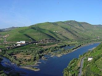 Peso da Régua - The Douro River valley running through the headlands of Peso da Régua