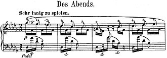 Fantasiestücke, Op. 12 - Image: R. Schumann, Fantasiestücke, Op. 12, Nr. 1 Incipit