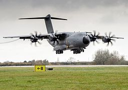 RAF A400M Lands at RAF Brize Norton